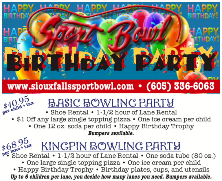 Sport Bowl 2018-19 birthday party packages
