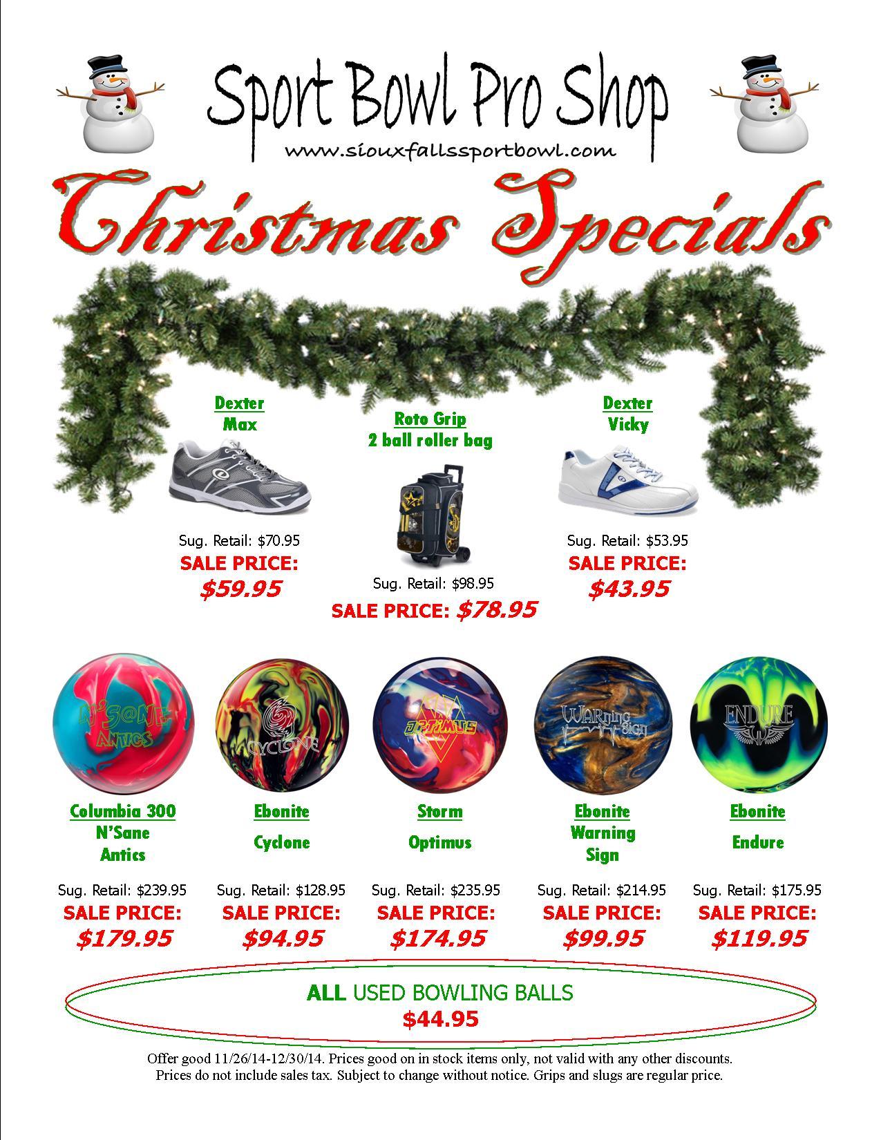 Sport Bowl Christmas Specials